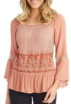Democracy Rosette Babydoll Blouse