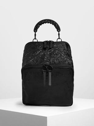 Charles & Keith Rope Handle Wrinkled Effect Backpack