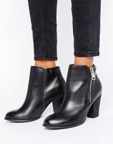 Aldo Side Zip Heel Boots