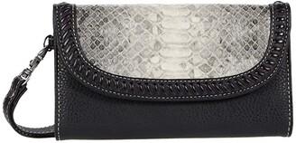 M&F Western Python Clutch Wallet (Grey/Black Python Print) Handbags