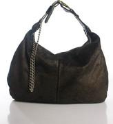 Botkier Brown Bronze Tone Suede Medium Sized Hobo Handbag