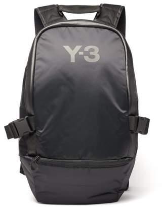 Y-3 Y 3 Racer Leather Trimmed Backpack - Mens - Black