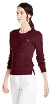 Lacoste Women's Long-Sleeve Cable-Knit Cotton Sweater