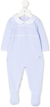 Paz Rodriguez Fine-Knit Spread-Collar Pajamas