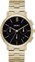 DKNY Willoughby Gold-Tone Stainless Steel Chronograph Watch