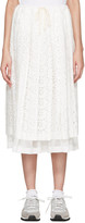 Comme des Garcons White Eyelet Lace Skirt