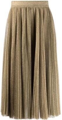 Dolce & Gabbana Glitter Pleated Midi Skirt