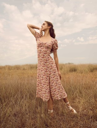Ever New Nadine Short Sleeve Midi Dress