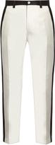 Dolce & Gabbana Side-stripe stretch-cotton cropped trousers