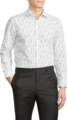 John Varvatos Trim Fit Floral Dress Shirt