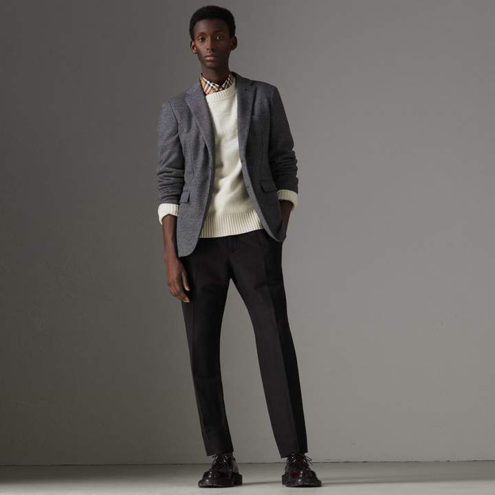 Burberry Linen Silk Tailored Trousers