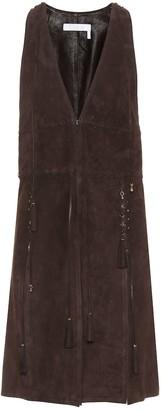 Chloé Embellished suede vest