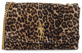 Saint Laurent Kate Reversible Leopard-Print Shoulder Bag