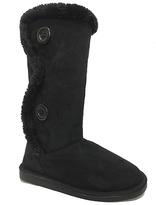 Black Double-Button Boot