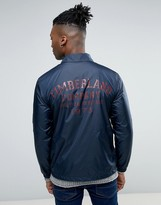Timberland Coach Jacket Back Logo Slim Fit In Navy