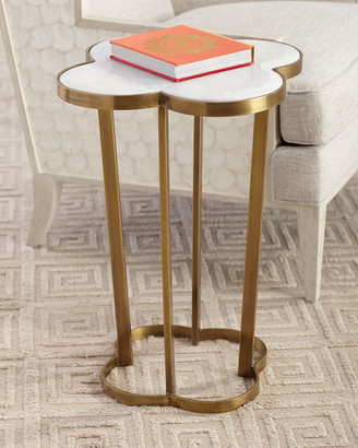 REGINA ANDREW Brass Clover Side Table