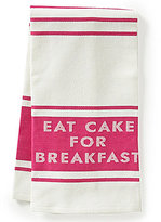 Kate Spade Diner Stripe Eat Cake for Breakfast Kitchen Towel