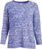 Caribbean Joe Ultra Ink Melange Boatneck Sweater - Plus