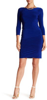 Tahari Melange Tiered Jersey Dress