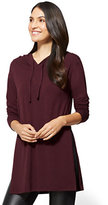 New York & Co. Hooded Tunic Top