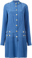 Pierre Balmain military shirt dress - women - Silk - 42