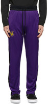 Marcelo Burlon County of Milan Purple and Black NBA Edition LA Lakers Track Pants
