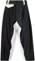 Vivienne Westwood multi-stripes drop-crotch trousers - men - Cotton/Linen/Flax/Virgin Wool - 46