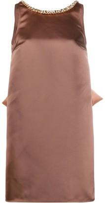 Elisabetta Franchi Bow-Detail Shift Dress