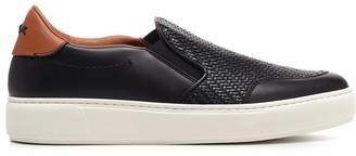 Ermenegildo Zegna Woven Detail Slip-On Sneakers