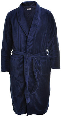 Angelina Men's Bath Robes Navy - Navy Plush Bathrobe - Men