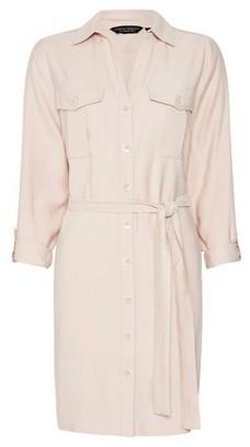 Dorothy Perkins Womens Blush Utility Shirt Dress