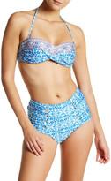 Nanette Lepore Seaside Tile Bandeau Bikini Top
