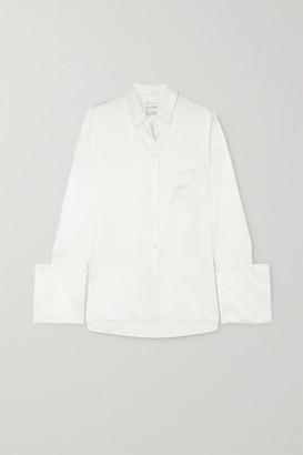 BITE Studios + Net Sustain Signature Organic Silk-satin Shirt - Off-white