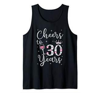 Cheers to 30 Years 1989 30Th Birthday Gift Tee For Womens Tank Top
