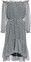 Diane von Furstenberg Camilla Off-the-shoulder Gathered Printed Chiffon Dress