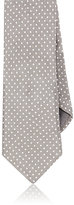 Todd Snyder MEN'S DOT-PRINT LINEN NECKTIE-TAN