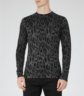 Reiss Leo Animal Print Jumper
