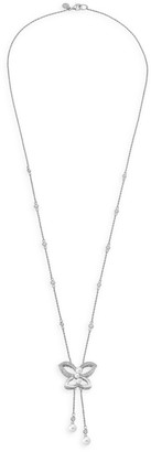 Majorica Sterling Silver, Cubic Zirconia & Faux Pearl Bolero Necklace