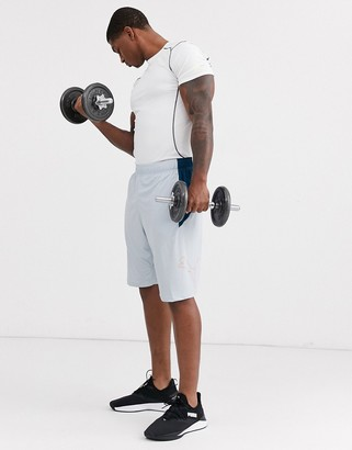 Puma Training Extract shorts in grey with side panels
