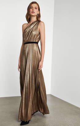 BCBGMAXAZRIA Sunburst Pleat Gown