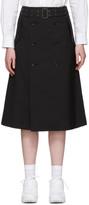 Junya Watanabe Black Tropical Wool Trench Skirt