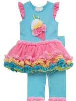 Rare Editions Aqua Ice Cream Tutu Legging Set - GORGEOUS - HURRY (6 months)