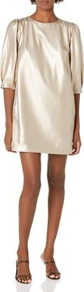 Velvet by Graham & Spencer Women's Pam Vegan Leather Puff 1/2 Sleeve Dress
