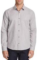 HUGO Enosh Speckled Slim Fit Button Down Shirt
