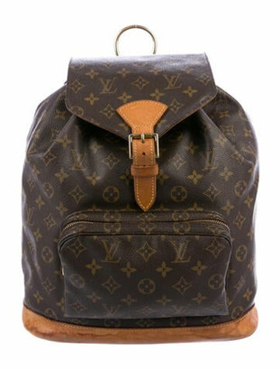 Louis Vuitton Monogram Montsouris GM Backpack Brown