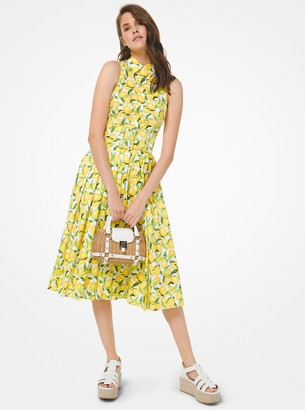 Michael Kors Collection Lemon Poplin Shirtdress