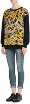 Moschino Wool-Cashmere Printed Pullover