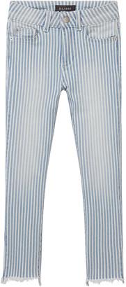 DL1961 Girl's Chloe Striped Denim Skinny Jeans, Size 7-16