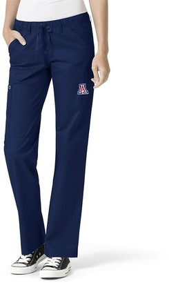 Women's Navy Arizona Wildcats Straight Leg Scrub Cargo Scrub Pants
