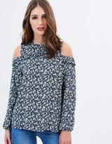Dorothy Perkins Blossom Frill Cold Shoulder Top